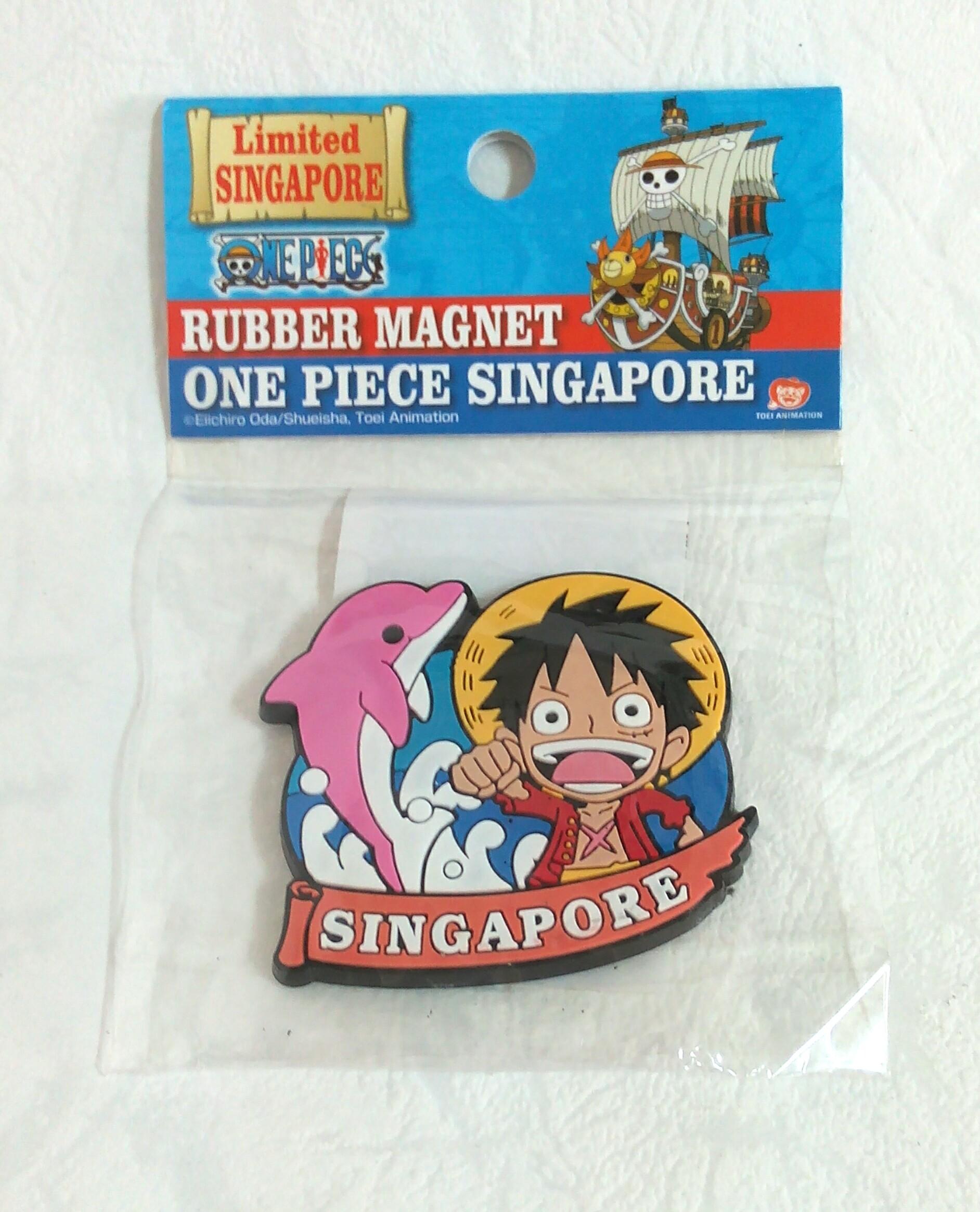 แผ่นแม่เหล็ก Rubber Magnet One Piece Singapore Limited Singapore