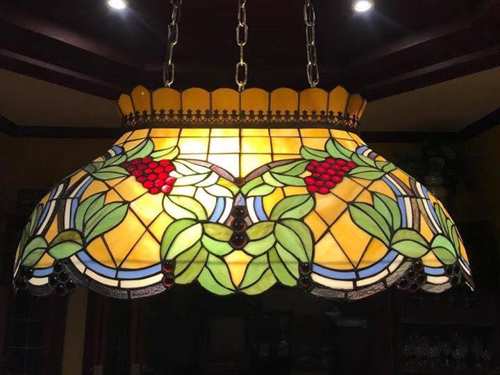 โคมไฟเพดานstainglass นำเข้าจากอังกฤษ รหัส20560st