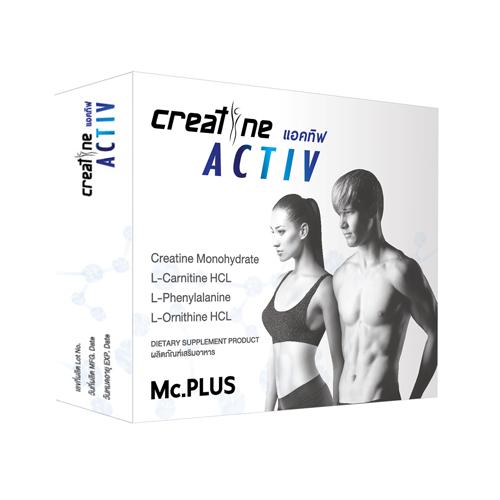 Creatine ACTIV Men by Mc.Plus ผลิตภัณฑ์เสริมอาหารควบคุมน้ำหนัก ครีเอทีน แอคทีฟ บรรจุ 20 เม็ด 1 กล่อง สูตรสำหรับผู้ชายและผู้หญิงทานได้