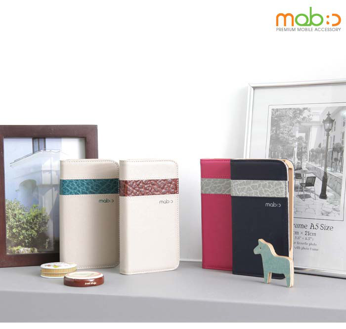 MOBC : Two Tone Book Leather Diary Case for iPhone 5