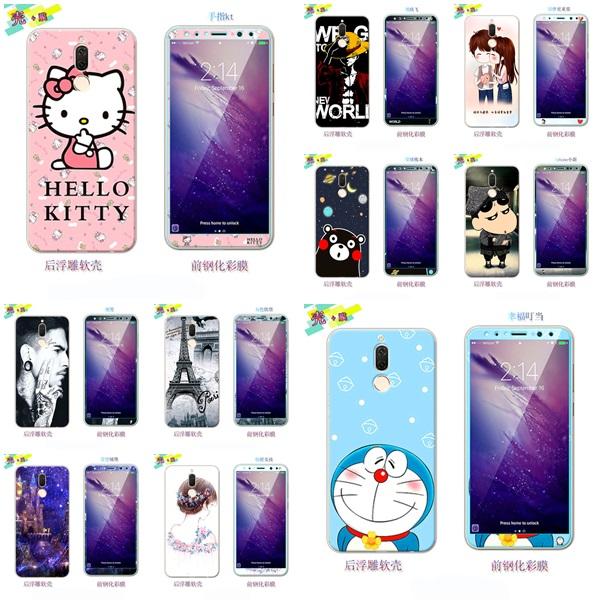 (025-872)เคสมือถือ Case Huawei Nova 2i/Mate10Lite เคสนิ่มลายการ์ตูนหลากหลายพร้อมฟิล์มหน้าจอลายการ์ตูนเดียวกัน
