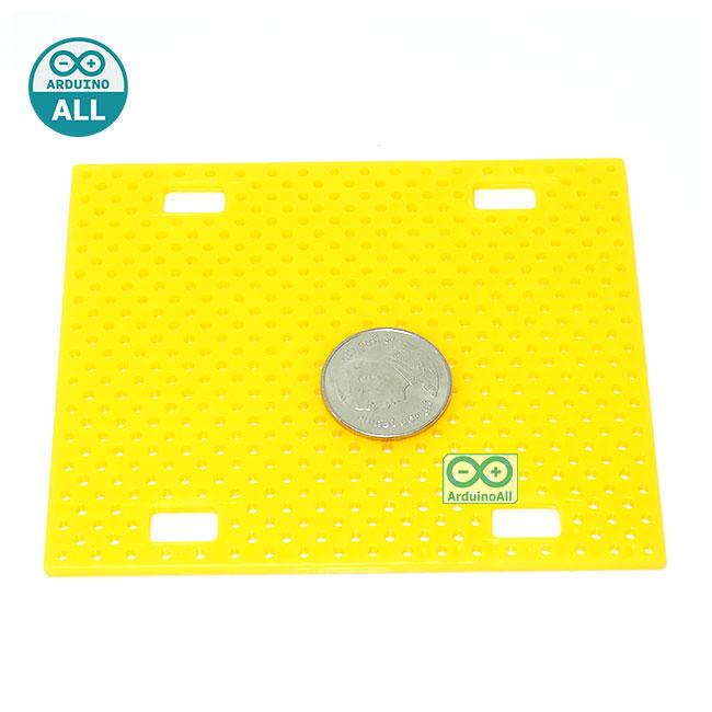 ABS plastic Mounting Plate Universal Robot แผ่นพลาสติก ABS ขนาด 5x6.5mm สีเหลืองส้ม