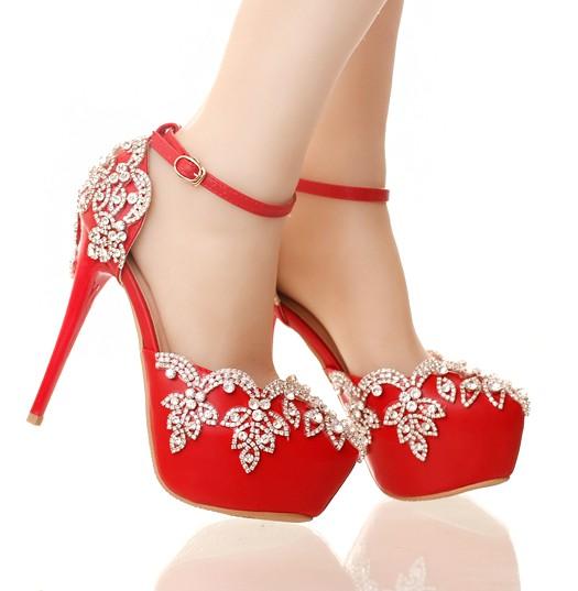 รองเท้าเจ้าสาวสีแดง ไซต์ 34-39