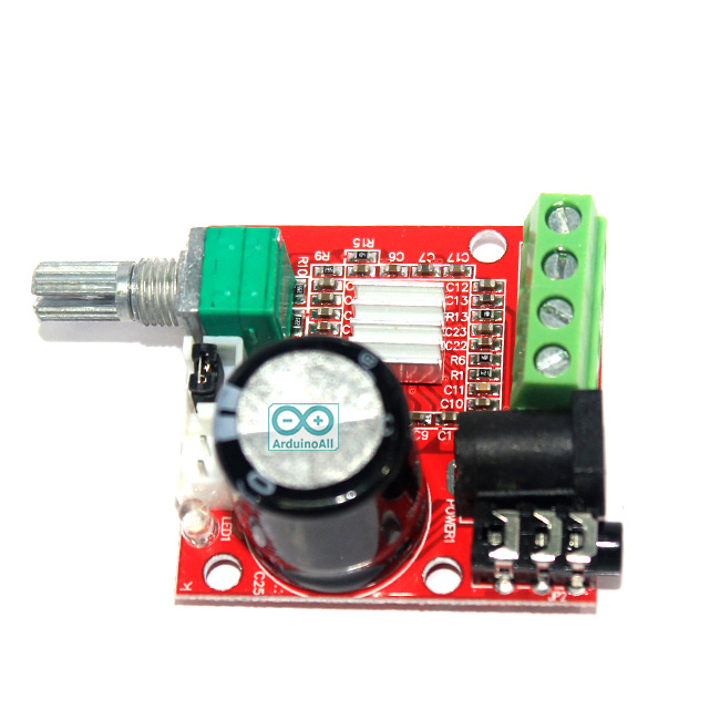PAM8610 Stereo Amplifier Class D 10W+10W วงจรขยายเสียงแบบ Stereo กำลังขับ 10W+10W คลาส D