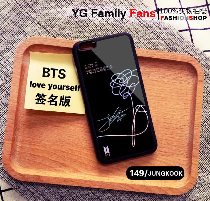 เคสโทรศัพท์ BTS LOVE YOURSELE Signature-ระบุรุ่น/หมายเลข-