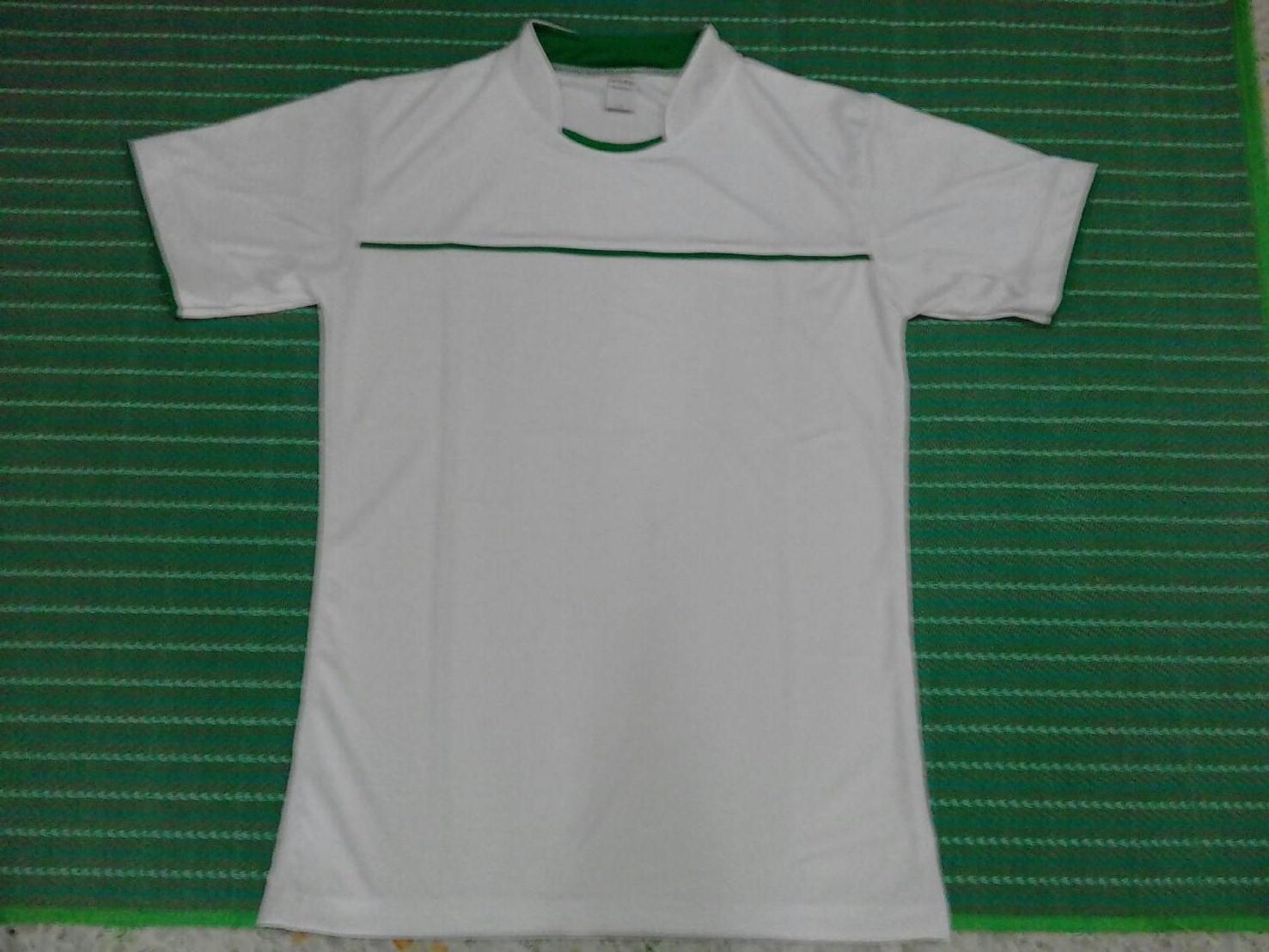 เสื้อกีฬา สีขาวเกรด A