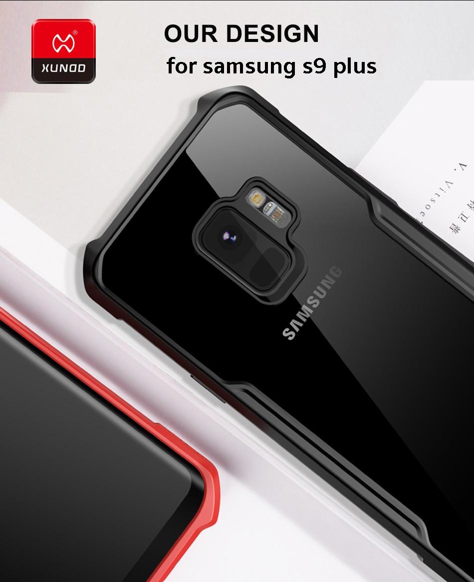 best service 938ef 5fc73 Samsung S9 Plus - เคสกันกระแทก เคสใส ขอบนิ่ม หลังแข็ง XUNDD แท้