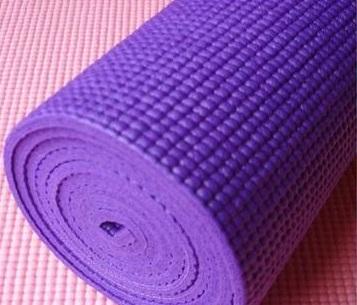 เสื่อโยคะ Yoga Mat 8 mm ม่วง พร้อมสายรัด และ กระเป๋า