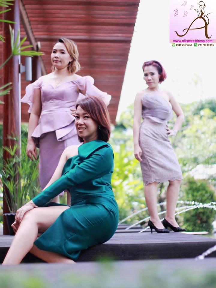 รีวิวชุดราตรีสั้นแบบสวยเรียบหรูทั้งสามสีใส่ไปได้ทั้งงานเช้างานเย็นสวยชิคมีสไตล์จากบรรดาสาวๆ ทีม allsweetdress ฝั่งธนค่ะ