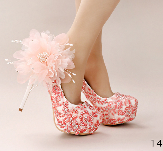 รองเท้าเจ้าสาว ไซต์ 34-39 ส้นสูง 12,14 ซม.