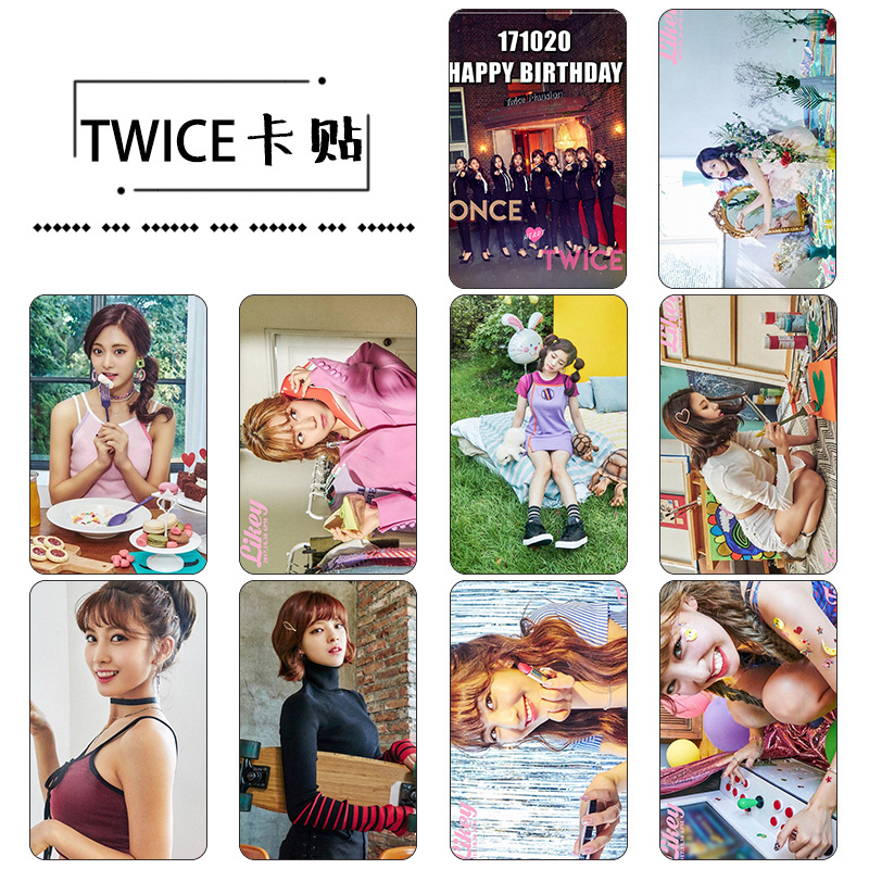 Sticker Card set TWICE - LIKEY (KT963)