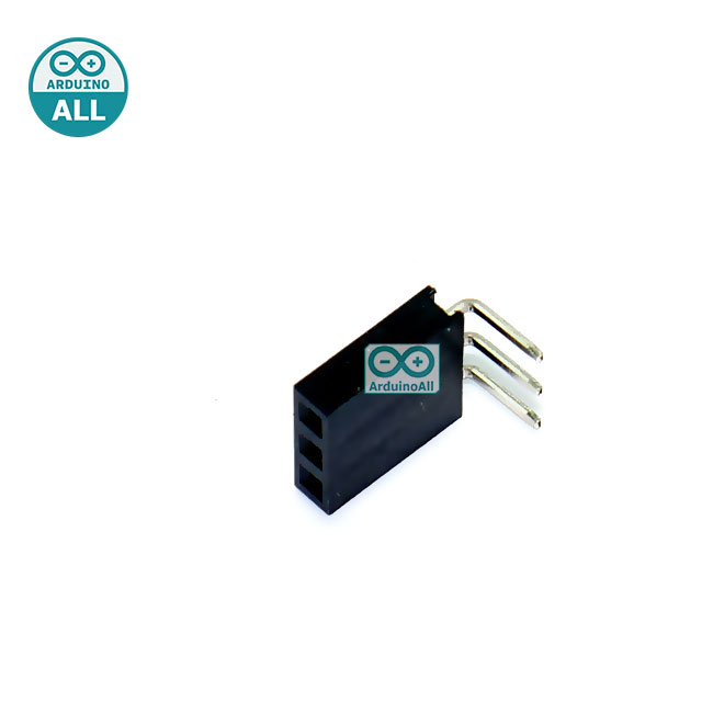 Female Pin Header 90 degree Dip Straight Single Row 2.54mm 1x3Pin แบบฉาก 90 องศา