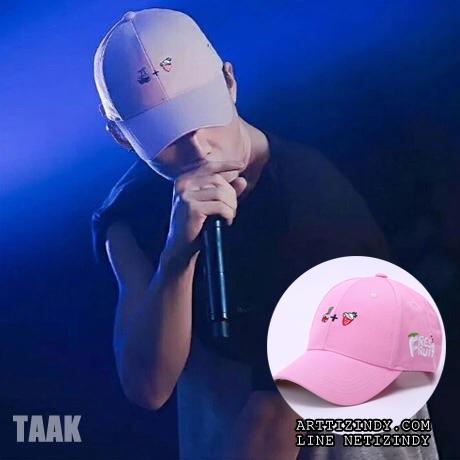 หมวก FRESH FRUIT pink แบบ Bobby ikon