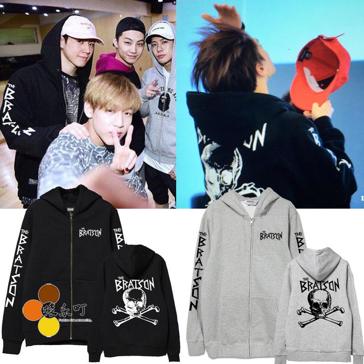 Jacket Hoodie THE BRATSON Sty.Yugyeom GOT7 -ระบุสี/ไซต์-