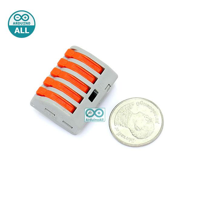 Wire connector quick terminal 0.75-4 square splitter PCT-215 Jack ต่อสายไฟแบบเร็ว 5 จุด