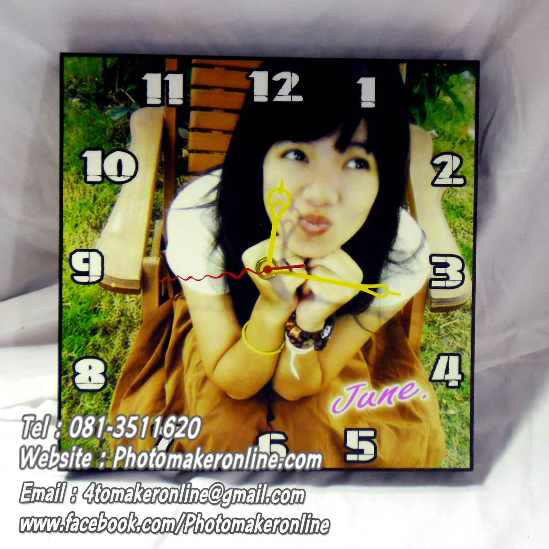 042-อัดขยายรูปและเข้ากรอบลอย 10x10 นิ้ว ใส่นาฬิกา