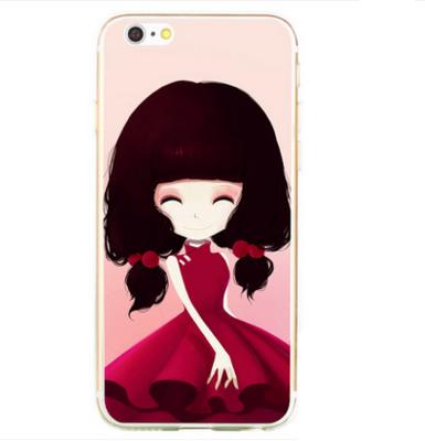 เคสไอโฟน 5/5s/SE(เคสนิ่มคลุมรอบเครื่อง) สาวเกาหลีน่ารัก แบบ 2