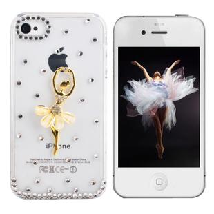 เคสไอโฟน 5/5s/SE (Case Iphone 5/5s/SE) เคสไอโฟนกรอบโปร่งใส ประดับสาวเต้นบัลเล่ย์