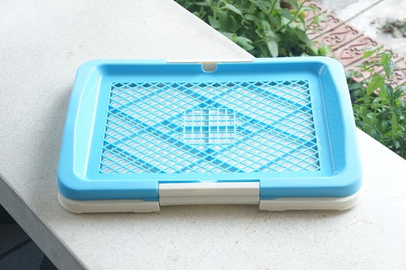 ห้องน้ำสุนัขมีตะแกรงสีฟ้า ไซส์ใหญ่ (ราคาพิเศษ+ดูราคาด้านใน)