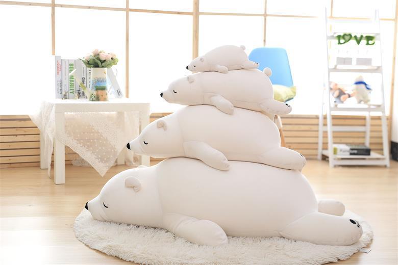 ตุ๊กตาหมีขี้เซา Sleepy bear สีขาวนวล