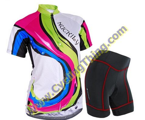 พรีออเดอร์ ชุดปั่นจักรยานหญิง เสื้อปั่นจักรยานแขนสั้น + กางเกงปั่นจักรยานขาสั้น
