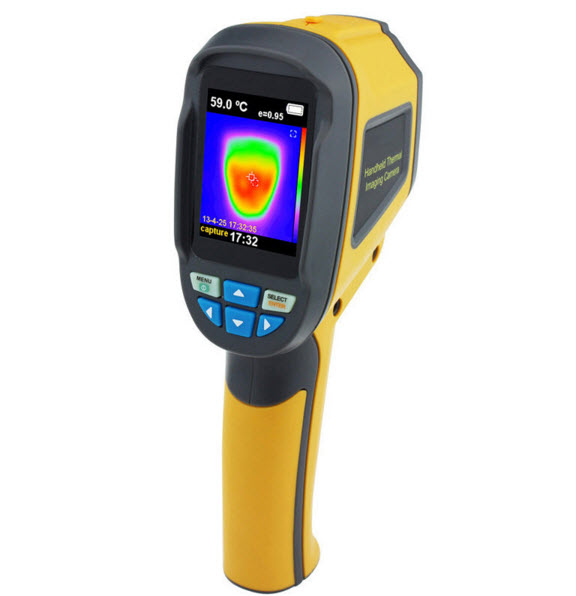 Handheld Thermograph Camera Infrared Thermal Camera Digital Infrared Imager Temperature Tester with 2.4inch Color LCD Display