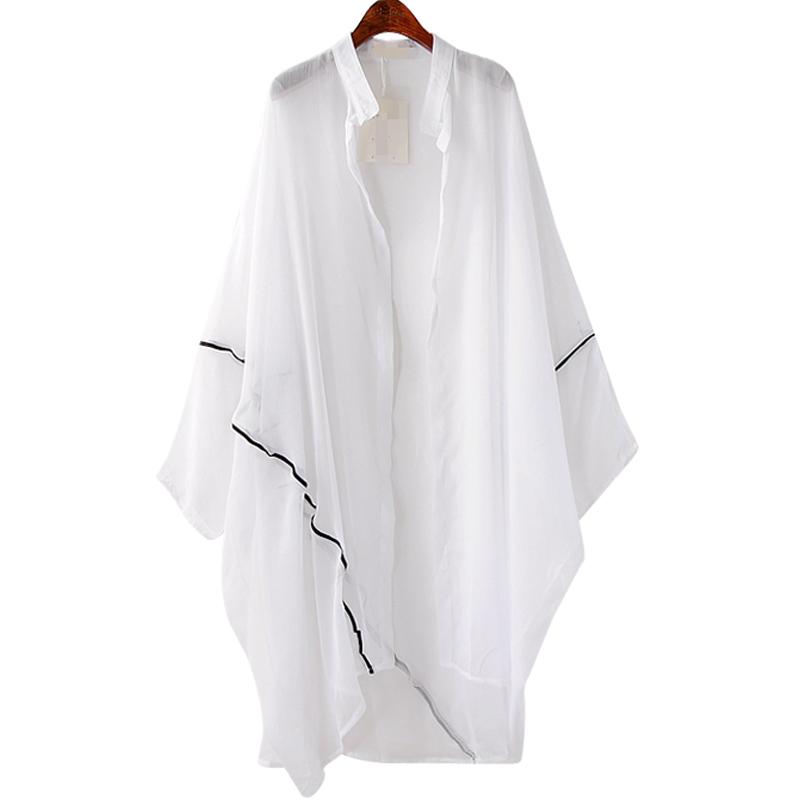 *Pre Order*แฟชั่นผู้หญิงไซส์ใหญ่ เสื้อเชิ้ตแขนค้างคาวสไตล์วินเทจ freesize /ขาว