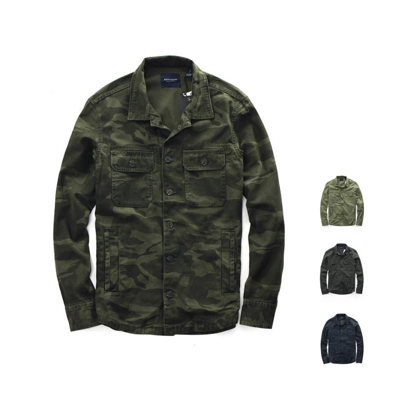 *Pre Order*เสื้อเชิ้ตแขนยาวBlue OS ฝ้าย 95% เขียว/เทาเข้ม/ลายพราง size M,L,XL