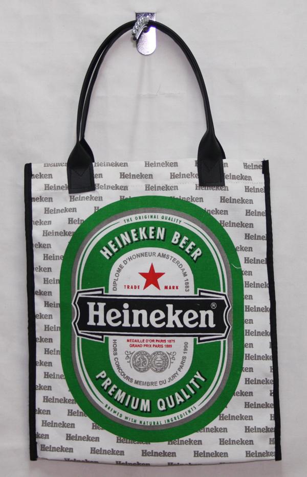 กระเป๋าผ้าcanvas สกรีนลาย heineken