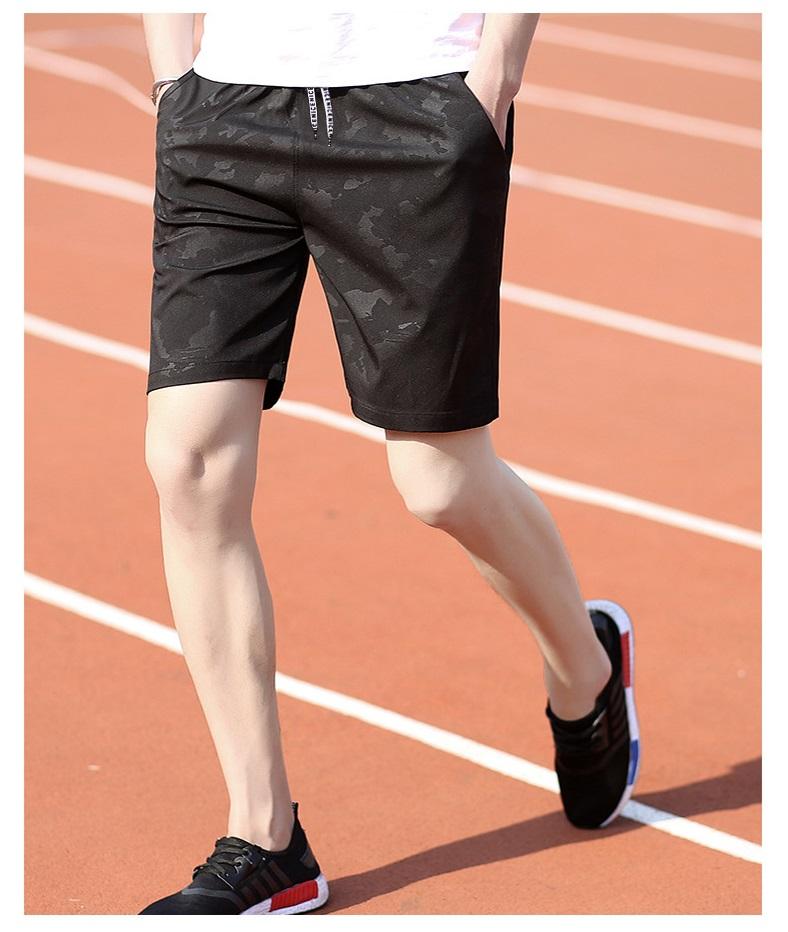 กางเกงขาสั้นแฟชั่นเกาหลี CAMO ฺBLACK