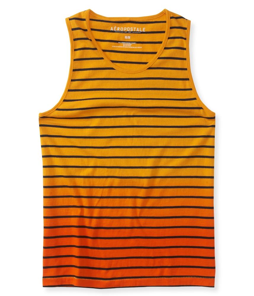 เสื้อกล้ามแฟชั่นผู้ชาย AEROPOSTALE Dip-Dye Stripe Tank - ISLAND ORANGE