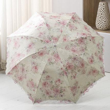 ร่มกันแสงแดดUV ร่มกันฝน ลายดอกไม้ 3พับ มี 4 สีค่ะ