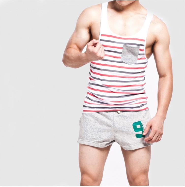 PRE ORDER ชุดกางเกงขาสั้น + เสื้อกล้าม : สีเทา