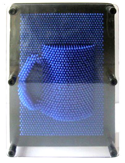 ของเล่นเสริมพัฒนาการ กรอบรูปพินสามมิติ Pin Art 3D สีน้ำเงิน