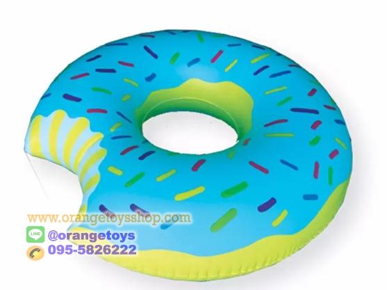 (ขนาด 48 นิ้ว) ห่วงยางว่ายน้ำ ขนาดใหญ่ ห่วงยาง แฟนซี โดนัท ห่วงยางโดนัท DN-198 OEM Donut Pool Float (120 เซนติเมตร) สีฟ้า