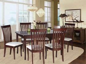 ชุดโต๊ะอาหารไม้จริง 4 ที่นั่ง ดีไซน์สวย สำหรับบ้านพักอาศัย ร้านอาหาร