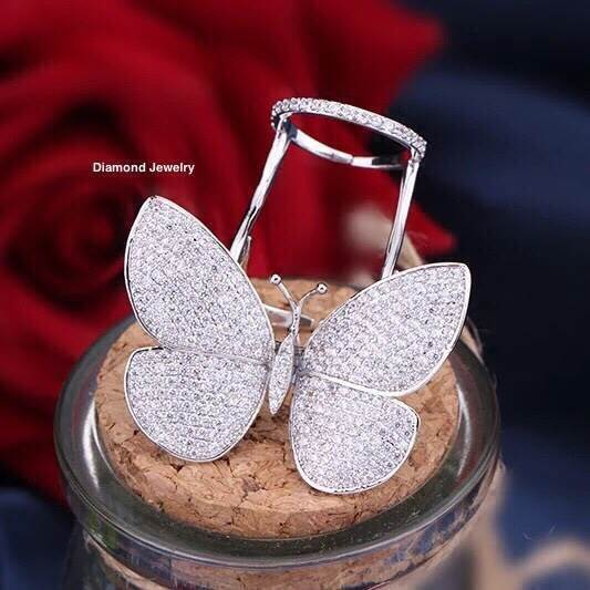 พร้อมส่ง Butterfly Diamond Ring งานเพชร CZ แท้