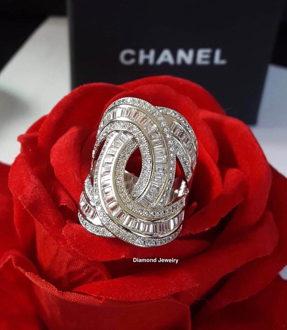 พร้อมส่ง Chanel Ringตัวนี้ค่ะ ใช้เพชร CZ แท้