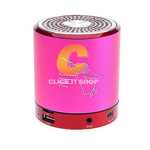 Portable Mini T-2020A + BLUETOOTH FM,USB -สีชมพู
