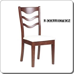 เก้าอี้ไม้ ดีไซน์โดดเด่นด้วยหลังพิงโค้งเว้า ไม่ซ้ำใคร (L-COLLECTION)