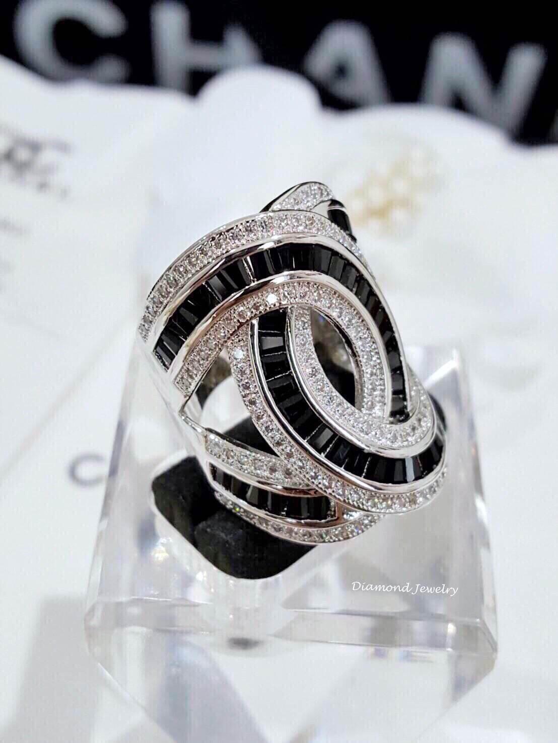 พร้อมส่ง Chanel Ring เพชร CZ แท้