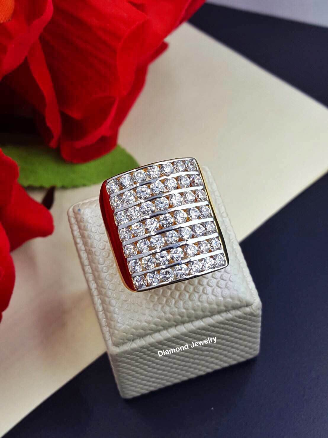 พร้อมส่ง Diamond Ring งานเพชรสวิส เพชร 7 แถว