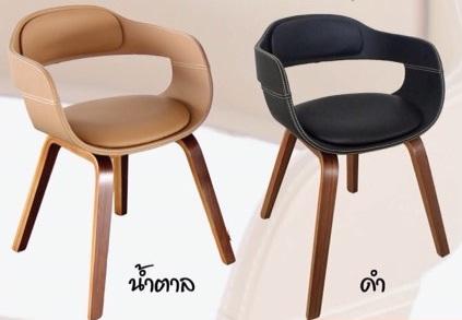 เก้าอี้ร้านกาแฟ หุ้มหนังขาไม้ ดีไซน์สวย สไตล์โมเดิร์น สำหรับร้านอาหาร ร้านกาแฟ (YAMANE)