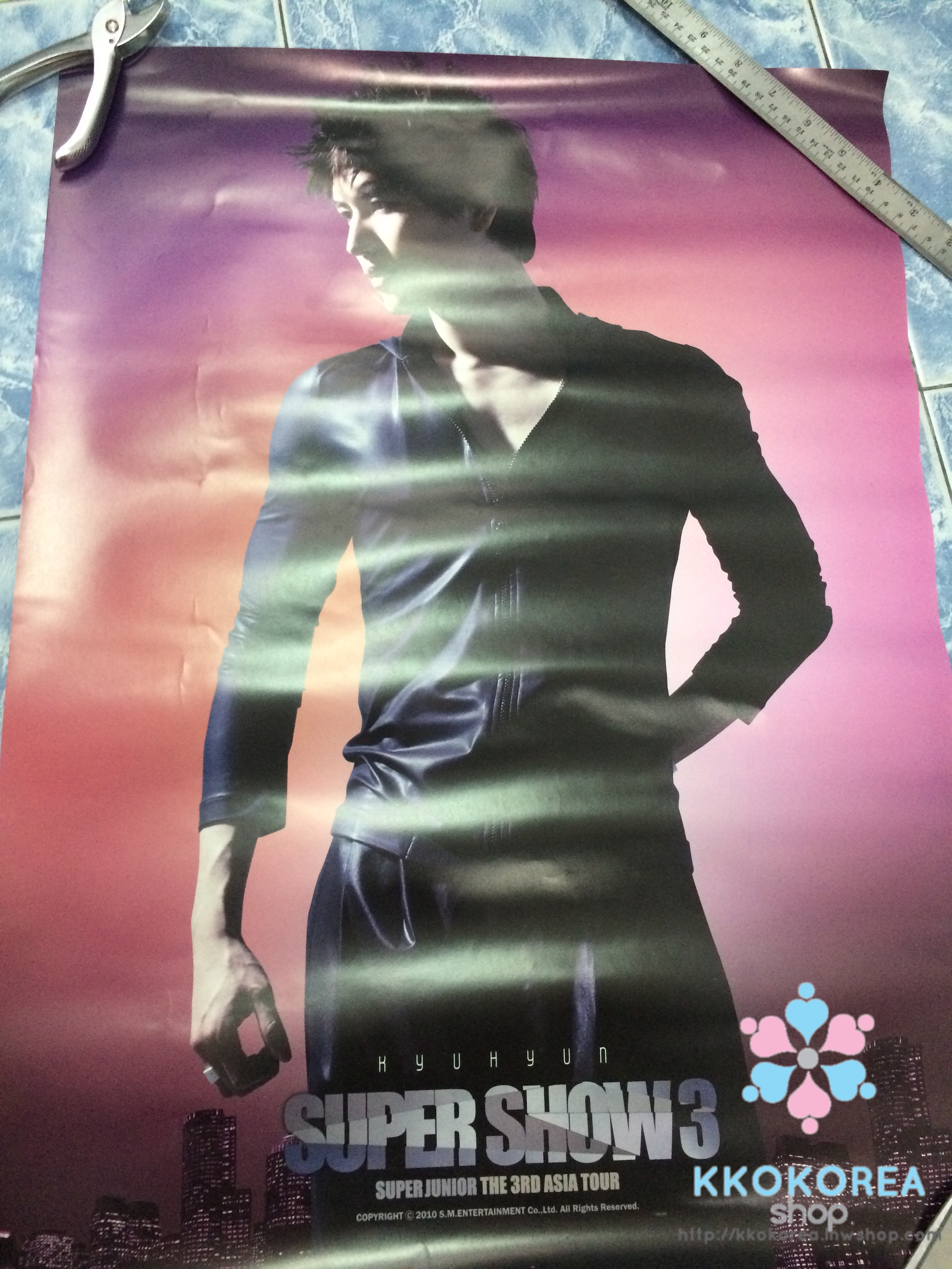 [Poster พร้อมส่ง 1 ใบ] Super Junior : Super Show 3 Official Goods - Poster (KYUHYUN)