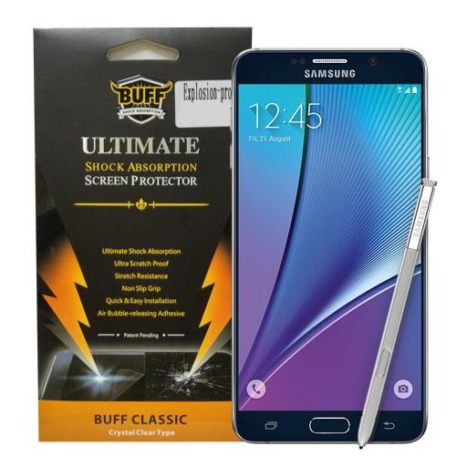 Buff ฟิล์ม TPU เต็มจอ ฟิล์มกันรอยซัมซุง Samsung Note 5 ซัมซุง โน๊ต5