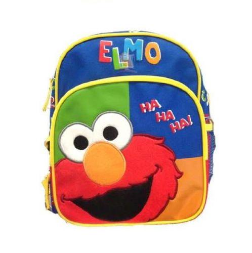 z Backpack Sesame Street Elmo 10 Inches Toddler - Elmo Ha Ha Ha เซซามี่ สตีท กระเป๋าเป้ กระเป๋าสะพายน่ารัก ของแท้ นำเข้าจากอเมริกา