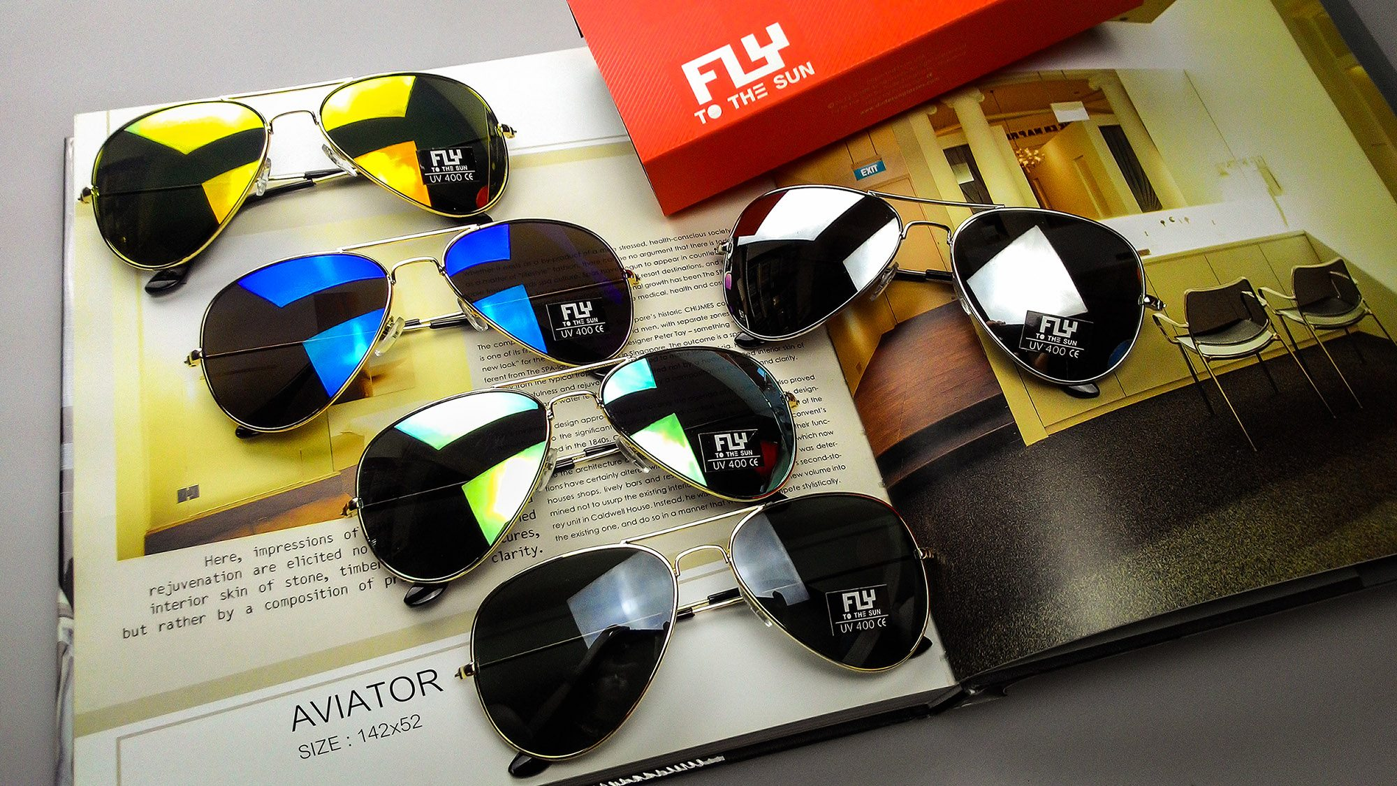 [พร้อมส่ง] แว่นกันแดด Fly to the sun รุ่น AVIATOR