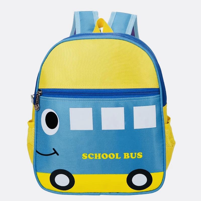 Kids Backpacks Kindergarten Backpacks กระเป๋าเป้เด็ก กระเป๋าเด็กลายการ์ตูน กระเป๋าเป้เด็ก กระเป๋าสำหรับเด็กอนุบาล รถบัสสีฟ้า