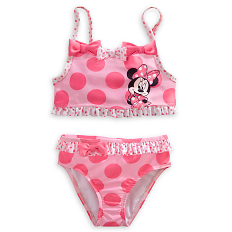 zMinnie Mouse Pink Swimsuit for Girls - 2-Piece (Size4)