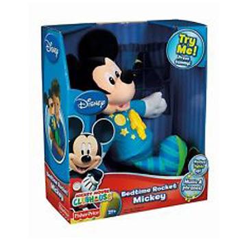 ฮ Fisher Price Mickey Mouse Club House Bedtime Rocket Mickey.